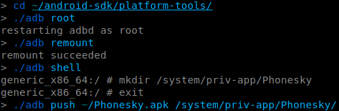 Install Phonesky.apk